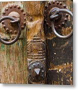 Door Knob Metal Print