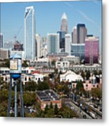 Downtown Charlotte North Carolina From The South End Metal Print