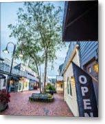Downtown Of Newport Rhode Island At Dusk Hours Metal Print
