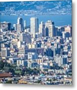 Downtown San Francisco City Street Scenes And Surroundings Metal Print