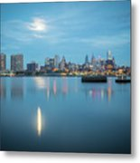 early morning sunrise over city of philadelphia PA Metal Print