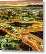 Early Morning Sunrise Over Valley Of Fire And Las Vegas Metal Print