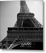 Eiffel Tower Under The Spotlight Metal Print