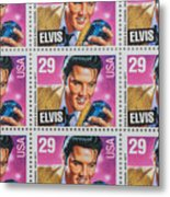 Elvis Commemorative Stamp January 8th 1993 Painted  Metal Print