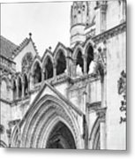 Entrance To Royal Courts Of Justice London Metal Print