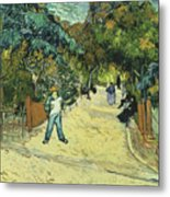Entrance To The Public Gardens In Arle Metal Print