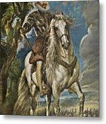 Equestrian Portrait Of The Duke Of Lerma Metal Print