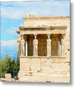 Erechtheion Temple On Acropolis Hill, Athens Greece. Metal Print