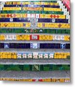 Escadaria Selaron In Rio De Janeiro Metal Print