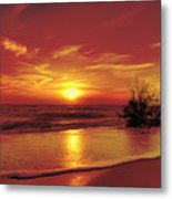 Evening Beach Metal Print