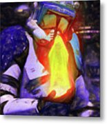 Execute Order 66 Blue Team Commander - Texturized Style Metal Print
