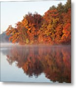 Fall Sunrise At Cox Hollow Lake In Governor Dodge State Park Metal Print
