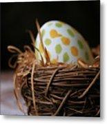 Fashionable Egg Metal Print