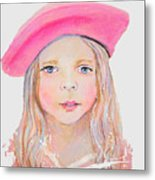 Fayanna Little French Angel Of Trust Metal Print