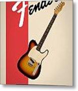 Fender Esquire 59 Metal Print