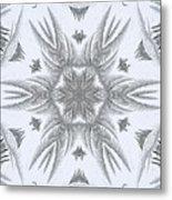 Fern Frost Mandala Metal Print