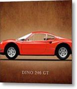 Ferrari Dino 246 Gt Metal Print