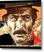 Film Homage Lee Van Cleef Spaghetti Westerns Publicity Photo Collage 1966-2008 Metal Print
