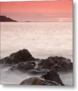 Fine Art- St Ives At Sunset By Phill Potter Metal Print