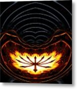 Fire Polar Coordinates Effect Metal Print