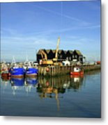 Fishing Boats At Whitstable Harbour 03 Metal Print
