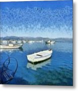 Fishing Boats In Nafplio Town Metal Print
