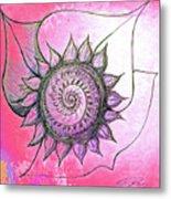 Flora Blushing Metal Print