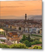 Florence Sunset Metal Print