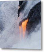 Flowing Pahoehoe Lava Metal Print
