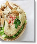 Fresh Crab Seafood Cream Mousse With Toast Tapas Snack Metal Print