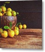Fresh Kumquat Fruits Metal Print