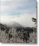 Frosty Pikes Peak Metal Print