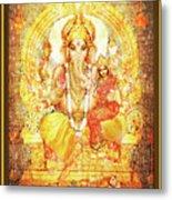 Ganesha Ganapati - Success Metal Print