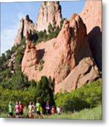 Garden Of The Gods Ten Mile Run In Colorado Springs Metal Print