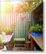 Garden Potting Table Metal Print