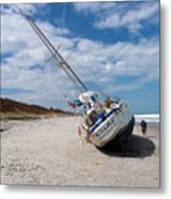 Ghost Ship Beached By Hurricane Irma Metal Print