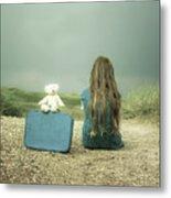 Girl In The Dunes Metal Print by Joana Kruse