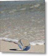 Glass Diamond On The Beach Metal Print