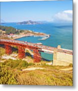 Golden Gate Bridge Vista Point Metal Print