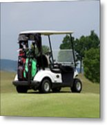 Golfing Golf Cart 04 Metal Print