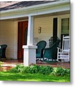 Grand Old House Porch Metal Print
