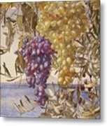 Grapes And Olives Metal Print