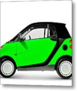 Green Mini Car Metal Print