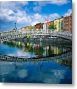 Hapenny Bridge, River Liffey, Dublin Metal Print