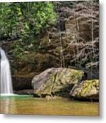 Hocking Hills Waterfall Metal Print