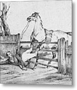 Horserider, C1840 Metal Print