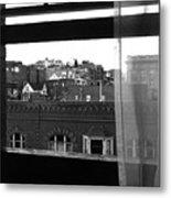 Hotel Window Butte Montana 1979 Metal Print