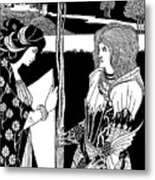 How Morgan Le Fay Gave A Shield To Sir Tristran Metal Print