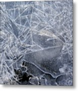 2. Ice Pattern 1, Corbridge Metal Print