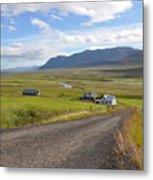 Iceland Landscape Metal Print by Ambika Jhunjhunwala